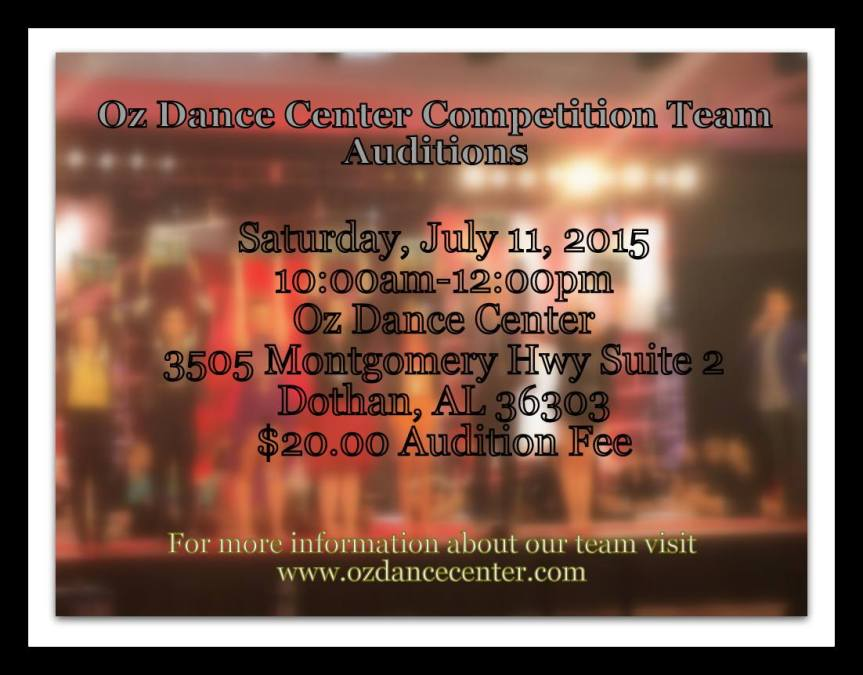 comp team auditions 2015